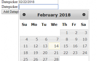 jQuery UI - Dynamically add DatePicker to input TextBox